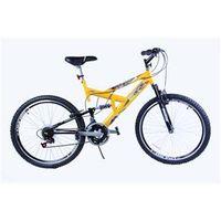 Bicicleta Aro 20 M. Full Susp Max 220 18V Amarelo C / Preto Dalannio Bike