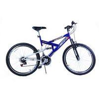 Bicicleta Aro 20 M. Full Susp Max 220 18V Azul C / Preto Dalannio Bike