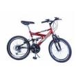Bicicleta Aro 20 M. Full Susp Max 220 18V Vermelho C / Preto Dalannio Bike