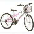 Bicicleta Aro 24 Sport Bike Sprinter 21 Marchas Rosa e Branca
