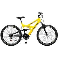 Bicicleta Aro 26 Style 21 Marchas Kanguru - Master Bike - Amarelo com Preto amarelo
