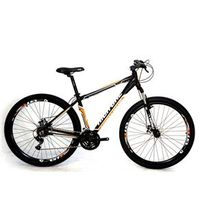 Bicicleta Aro 29 Freios a Disco 21 Veloc Cambios Shimano Pt / Laranja - High One - HG1 - P.L. 18