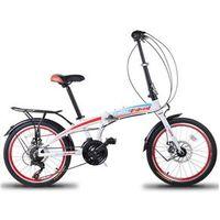 Bicicleta Dobrável FD - 500 21V Freio a Disco Branca branco