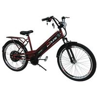 Bicicleta Elétrica Confort 800W 48V 12Ah Vermelho Cereja vermelho