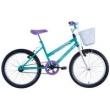 Bicicleta Feminina Cindy com Cesta Aro 20 Verde Track Bikes
