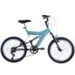 Bicicleta Feminina XS 20 Dupla Suspensão MTB Azul / Preto Track Bikes