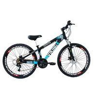 Bicicleta Freeride Aro 26 Freio a Disco 21 Velocidades Câmbios Shimano Preto / Azul - Viking - VK. PA