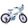 Bicicleta Frozen Disney Bandeirante 16 Pol Azul com Cestinha