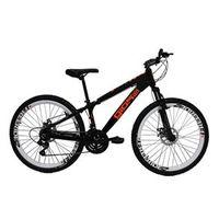 Bicicleta Frx Freeride Aro 26 Freio a Disco 21 Velocidades Cambios Shimano Preto Laranja - Gios