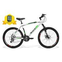 Bicicleta Gts Aro 26 Freio A Disco Câmbio Shimano 21 Marchas Amortecedor E Velocímetro Walk New branco