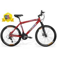 Bicicleta GTSM1 Advanced 2.0 Kit Shimano aro 26 freio a disco 21 marchas Ciclo Computador, Squeeze e Suporte Squeeze Vermelho -