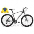 Bicicleta GTSM1 Advanced New aro 27.5 freio a disco 24 marchas + Camiseta Preto Fosco - Tamanho 15