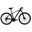 Bicicleta High One Revolution Aro 29Er Freio a Disco 21 Velocidades Cambios Shimano Preto Verde