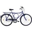 Bicicleta Houston Super Forte VB com Bagageiro, Azul Copa