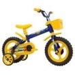 Bicicleta Infantil Arco Íris Aro 12 Track & Bikes - Azul / Amarelo