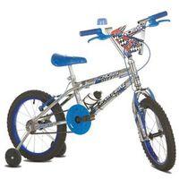 Bicicleta Infantil Aro 16 Sport Bike Top Cross Cromada Azul