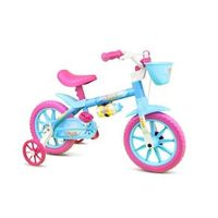 Bicicleta Infantil Feminina Aro 12 Aqua - Nathor