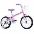 Bicicleta Infantil Feminina Pinky Aro 16 Rosa Fuccia Track Bikes