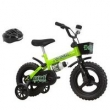 Bicicleta Infantil Kit Kat Aro 12 com Capacete Preto / Verde Neon Track Bikes