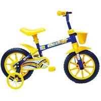 Bicicleta Masculina Track & Bikes Arco - Íris Aro 12 ´ Cor Amarela e Azul