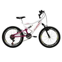 Bicicleta Mormaii Aro 20 Full FA240 - Branco / Rosa