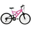 Bicicleta Mormaii Aro 24 Full FA240 - Rosa Fluor / Preta