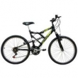Bicicleta Mormaii Aro 24 Fullsion - Preto Fosco