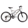 Bicicleta Mormaii Aro 26 Full Suspension Big Rider - Prata