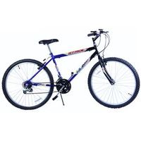Bicicleta MTB Passeio 18 Marchas Aro 26 Câmbio Shimano - Dalannio Bike azul marinho