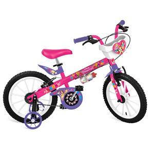 Bicicleta Princesas Disney Bandeirante 16 Pol Rosa com Cestinha