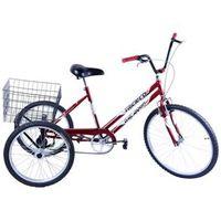 Bicicleta Triciclo Aro 26 cor Vermelho vermelho