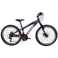 Bicicleta VikingX TUFF 25 Freeride A26 21 V Câmbios Shimano Preto Rosa Verde Viking