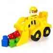 Carrinho de Brinquedo Sunny Veículo de Construção Boneco Rubble