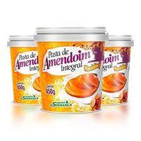 Combo 3 Pasta de Amendoin Integral - Mandubim - 450g