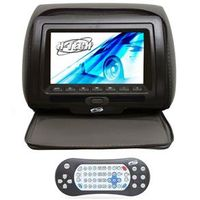 Encosto de Cabeça LCD 7 H - Tech Ziper Preto, DVD, USB, SD