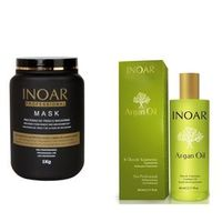Inoar Argan Oil System Oleo de Argan Serum 60ml e Mascara 1kg