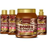 Kit Bomba de Chocolate Máscara 1Kg Forever Liss