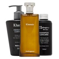 Kit com Hidratante Corporal + Fragrância Khamsin+ Shampoo For Men ml
