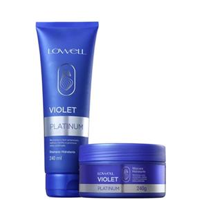 Kit Matizador Violet Platinum Shampoo 240ml+Máscara 240g - Lowell