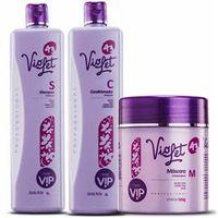Kit Violet Matizador Shampoo+Condicionador+Máscara Vip
