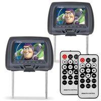 Par Tela Encosto 7 Polegadas USB SD Grafite Controle