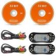 Par Tela Encosto Cabeça 7 Polegadas Grafite DVD USB SD Função Game com Controle