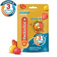 Redoxitos+ Sabor Mix De Frutas C / 25 Gomas Mastigáveis De Vitamina C, D E Zinco