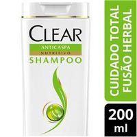 Shampoo Anticaspa Clear Women Fusão Herbal Cuidado Total