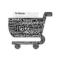 Super Ímã de Geladeira Carrinho de Compras - Lista de Compras - Geguton