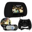Tela Encosto Cabeça LCD 7 Polegadas Com Leitor DVD Preto + Joystick e Fone