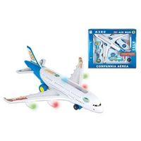 Avião Mini Air Bus com Motor a Pilha - Vip Toys