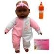 Boneca Bebê Bebezão Negra Mamadeira E Certidão - Divertoys