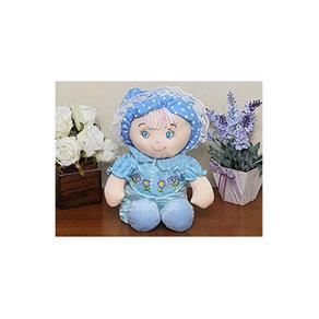 Boneca em Plush cor Azul - Bebê Cuti - cuti - Antialérgico e Atóxico - 29 cm