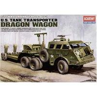 Carreta Transporte Tanques M - 26 Wagon Dragon - Academy